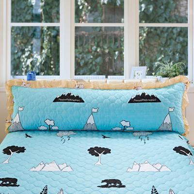 单品枕套类10  全棉夹棉长枕 45cmX120cm 雪岭熊风