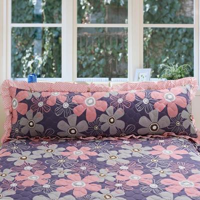 单品枕套类10  全棉夹棉长枕 45cmX120cm 幽兰花谷