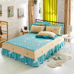单品床罩类9  印花夹棉床罩 120*200*45 奔跑小鹿
