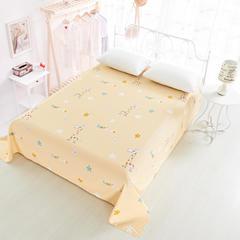 单品床单类1 全棉印花直角床单47个 120*230cm直角(0.9米床用) 奔跑小鹿B