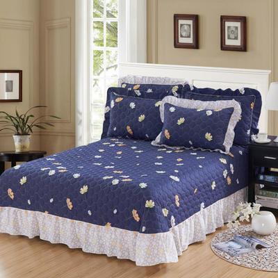 单品床单类4 全棉印花夹棉床单(床盖)50 200*240cm需定做 秋叶浪漫
