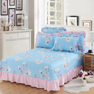 单品床单类4 全棉印花夹棉床单(床盖)50 200*240cm需定做 雀上枝头