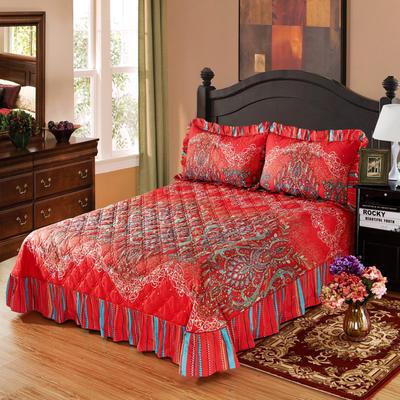 单品床单类4 全棉印花夹棉床单(床盖)50 200*240cm需定做 荣华富贵