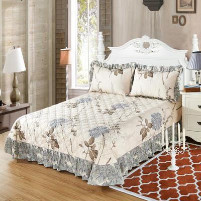 单品床单类4 全棉印花夹棉床单(床盖)50 200*240cm需定做 似水流年