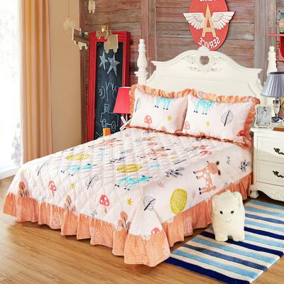 单品床单类4 全棉印花夹棉床单(床盖)50 200*240cm需定做 童话小鹿