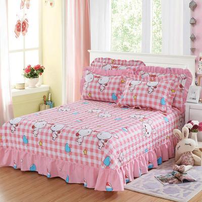 单品床单类4 全棉印花夹棉床单(床盖)50 200*240cm需定做 小兔乖乖