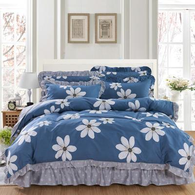 套件10  全棉夹棉床单(床盖)四件套 1.5床 梦境花
