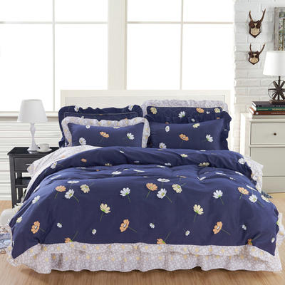 套件10  全棉夹棉床单(床盖)四件套 1.5床 秋叶浪漫