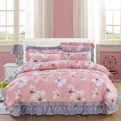 套件10  全棉夹棉床单(床盖)四件套 1.5床 赞那度