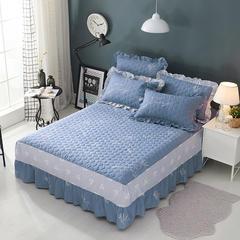 单品床罩类2 AB版夹棉床罩/床裙86个 120*200*45 欢乐鹿蓝