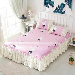 单品床罩类3 韩式单层床罩/床裙51个 120*200cm 迷你粉兔新拍