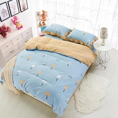 套件19 全棉小清新多规格床单四件套 小四件套1.0-1.35床 美好心情