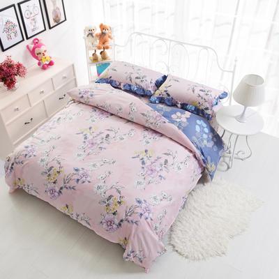 套件19 全棉小清新多规格床单四件套46 小四件套1.0-1.35床 喜上枝头