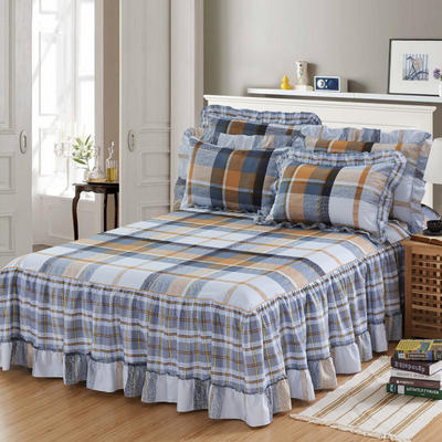 单品床罩类3-1 全棉春天款单层床罩/床裙18个 120*200cm 布鲁斯