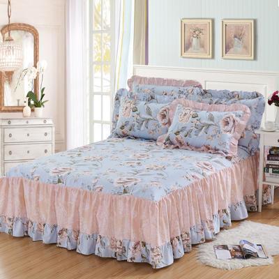 单品床罩类3-1 全棉春天款单层床罩/床裙18个 120*200cm 风韵佳人