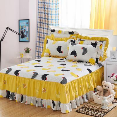 单品床罩类3-1 全棉春天款单层床罩/床裙18个 120*200cm 格格吉祥