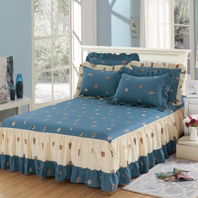 单品床罩类3-1 全棉春天款单层床罩/床裙18个 120*200cm 海边拾趣