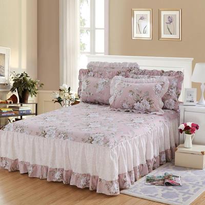单品床罩类3-1 全棉春天款单层床罩/床裙18个 120*200cm 花颜绽放