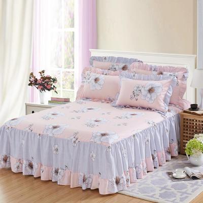 单品床罩类3-1 全棉春天款单层床罩/床裙18个 120*200cm 华丽绽放
