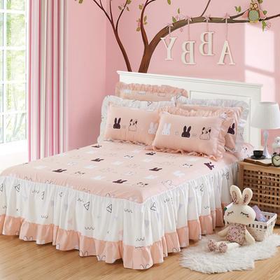 单品床罩类3-1 全棉春天款单层床罩/床裙18个 120*200cm 两只耳朵