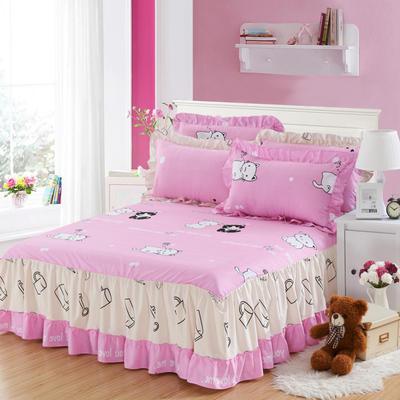 单品床罩类3-1 全棉春天款单层床罩/床裙18个 120*200cm 喵趣横生
