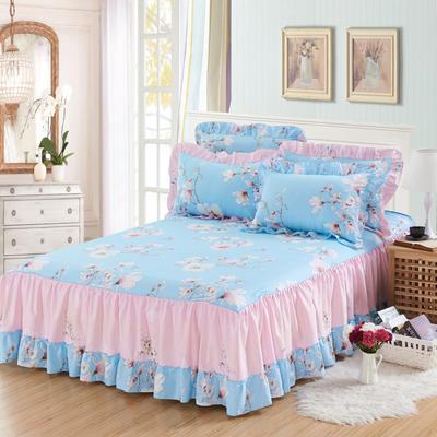 单品床罩类3-1 全棉春天款单层床罩/床裙18个 120*200cm 雀上枝头