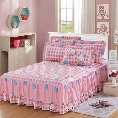 单品床罩类3-1 全棉春天款单层床罩/床裙18个 120*200cm 小兔乖乖