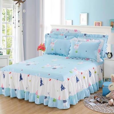 单品床罩类3-1 全棉春天款单层床罩/床裙18个 120*200cm 一见倾心