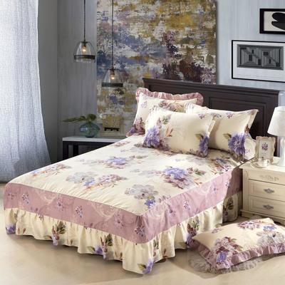 单品床罩类11 全棉二合一床笠式床罩/床裙24个 150*200*45 春花秋月