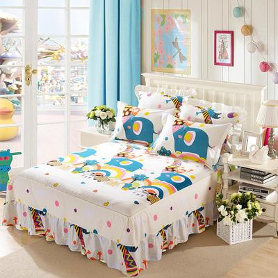 单品床罩类11 全棉二合一床笠式床罩/床裙 150*200*45 大象的梦想