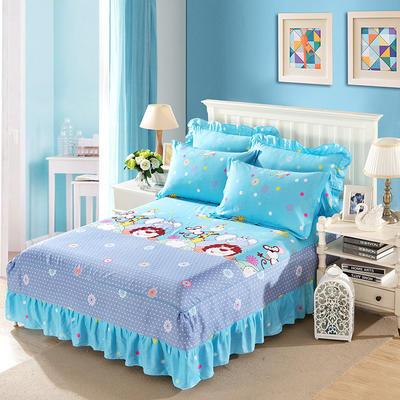 单品床罩类11 全棉二合一床笠式床罩/床裙24个 150*200*45 动物园