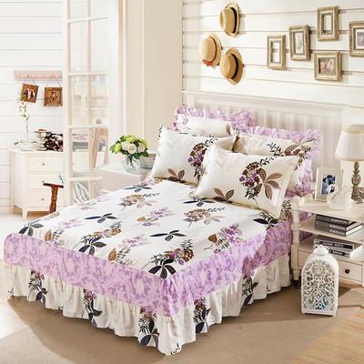 单品床罩类11 全棉二合一床笠式床罩/床裙24个 150*200*45 花繁叶茂