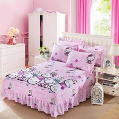 单品床罩类7 二合一床笠式床罩/床裙24个 150*200*45 快乐猫咪