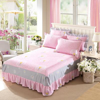 单品床罩类11 全棉二合一床笠式床罩/床裙24个 150*200*45 蒲公英的约定