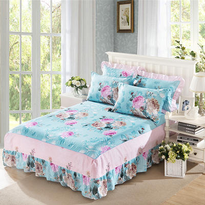 单品床罩类11 全棉二合一床笠式床罩/床裙 150*200*45 倾世皇妃