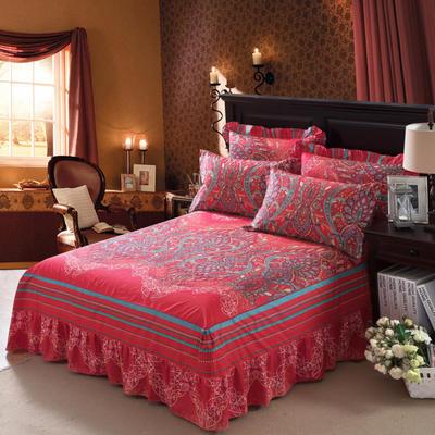 单品床罩类11 全棉二合一床笠式床罩/床裙24个 150*200*45 荣华富贵