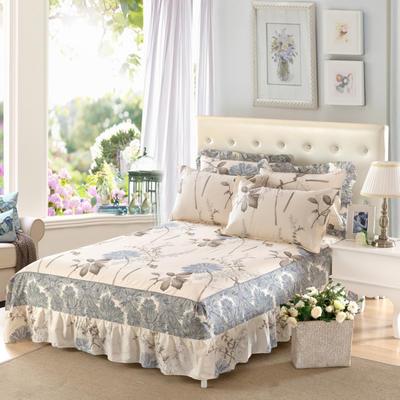 单品床罩类11 全棉二合一床笠式床罩/床裙24个 150*200*45 似水流年