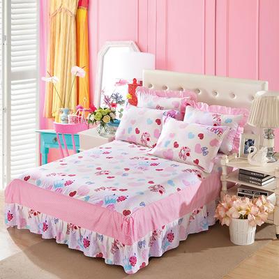 单品床罩类11 全棉二合一床笠式床罩/床裙24个 150*200*45 香水天空