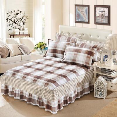 单品床罩类11 全棉二合一床笠式床罩/床裙24个 150*200*45 休闲假日