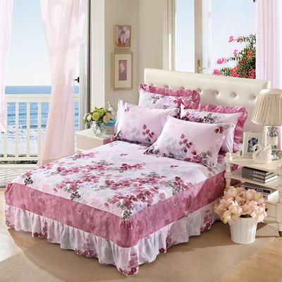 单品床罩类11 全棉二合一床笠式床罩/床裙24个 150*200*45 雨露花香