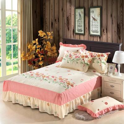 单品床罩类11 全棉二合一床笠式床罩/床裙 150*200*45 约定