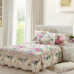 单品床罩类8 韩版双层边单床罩/床裙14 150*200*45 芬芳花语