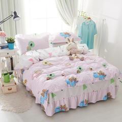 套件1 印花单层床罩四件套(配信封枕套) 四件套2.0床被套 大眼龟