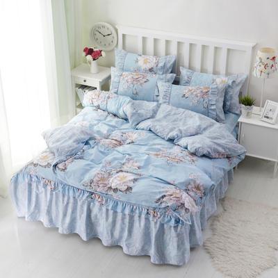 套件2-1:韩式单层床罩/床裙配双针被套四件套41 1.2床 罗马假日