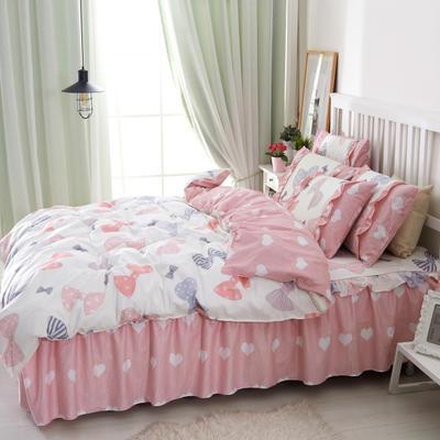 套件2-1:韩式单层床罩/床裙配双针被套四件套41 1.2床 淑女宝贝