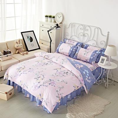 套件2-1:韩式单层床罩/床裙配双针被套四件套41 1.2床 喜上枝头