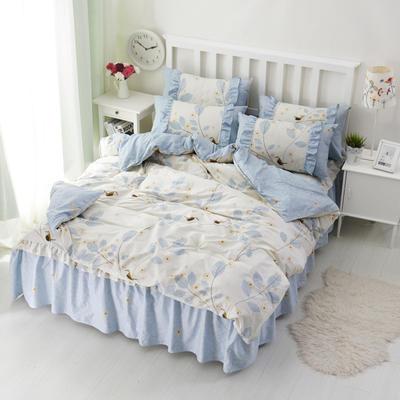 套件2-1:韩式单层床罩/床裙配双针被套四件套41 1.2床 夏至