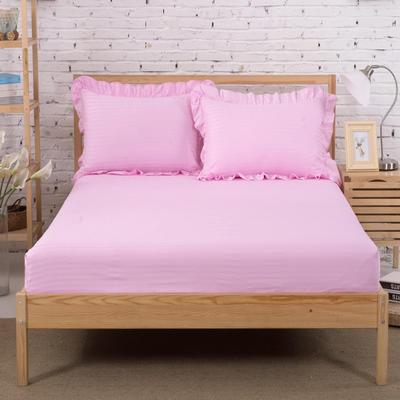 单品床笠类3 缎条单层床笠(床垫套)12 120cmx200cm 粉红