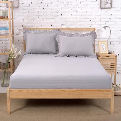 单品床笠类3 缎条单层床笠(床垫套)12 120cmx200cm 灰色