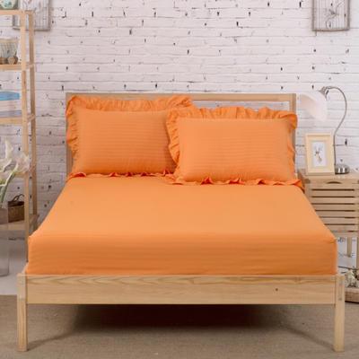 单品床笠类3 缎条单层床笠(床垫套)12 120cmx200cm 橘黄